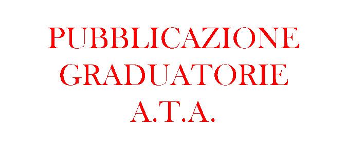 Pubblicazione delle graduatorie definitive di Circolo e d'Istituto di terza fascia del personale A.T.A