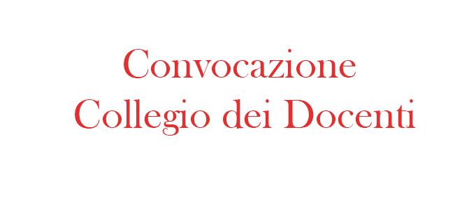 Convocazione Collegio dei Docenti